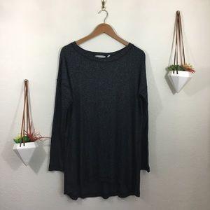 Soft Surroundings black gray long sleeve top